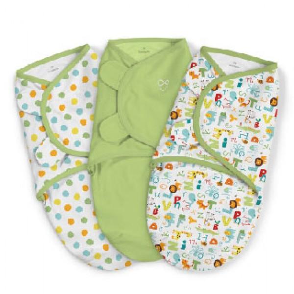 Summer Infant SwaddleMe 嬰兒包巾 (3件裝) -ABC Alphabet