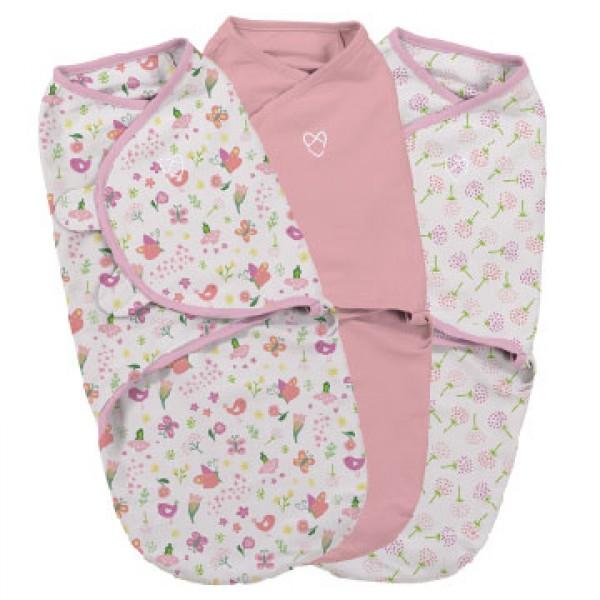 Summer Infant SwaddleMe 嬰兒包巾 (3件裝) -Secret Garden