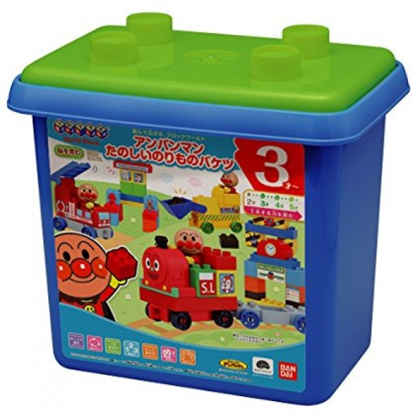 Bandai 麵包超人火車積木玩具
