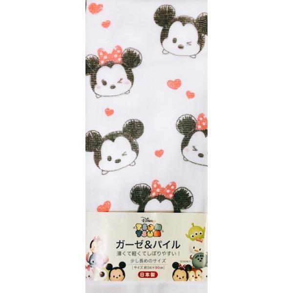 Disney Tsum Tsum 純棉手巾-米奇米妮 (34x90cm)