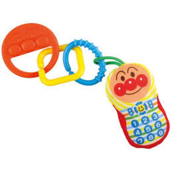 Bandai 麵包超人 布電話牙膠吊環玩具