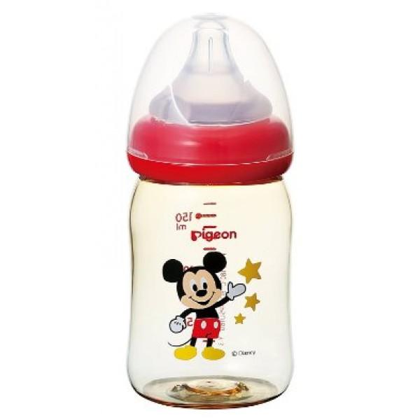 Pigeon米奇PPSU塑膠奶瓶160毫升,附母乳感SS孔矽膠奶咀(0﹣3個月) [RS]