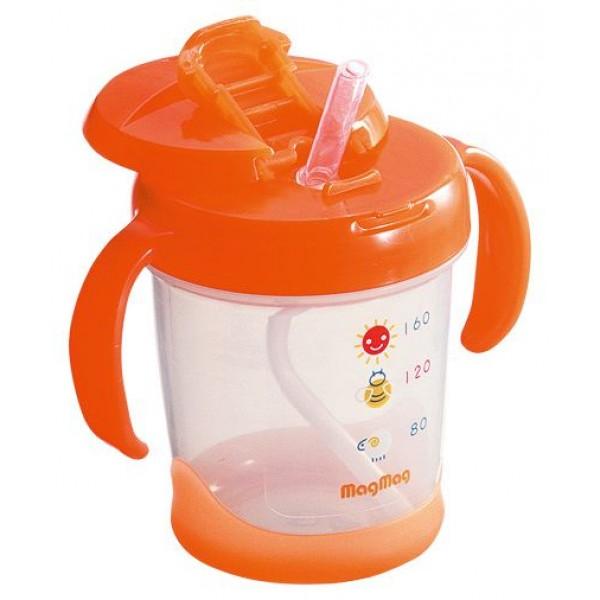 Pigeon MagMag 飲管學習杯 (橙色) 200毫升(8個月起) [RS]