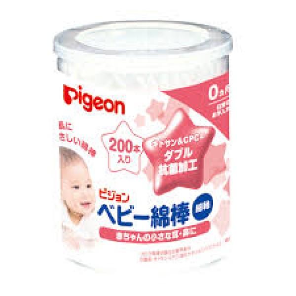 Pigeon 嬰兒抗菌棉棒 (200枚)