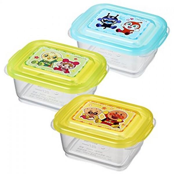 LEC 麵包超人離乳食儲存盒 120ml x3個