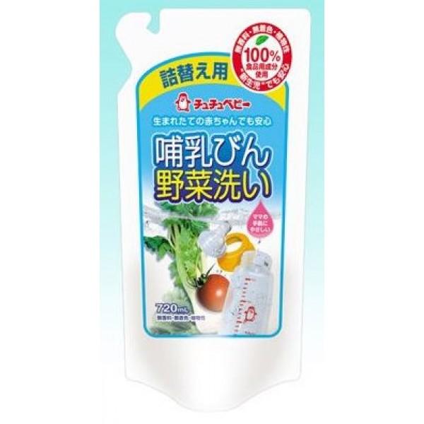 ChuChuBaby奶瓶蔬果洗潔液 720ml 補充裝  ❤ 6包優惠$249❤