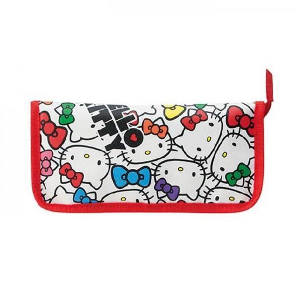 Skater Hello Kitty 嬰兒餐具收納袋 - 紅色