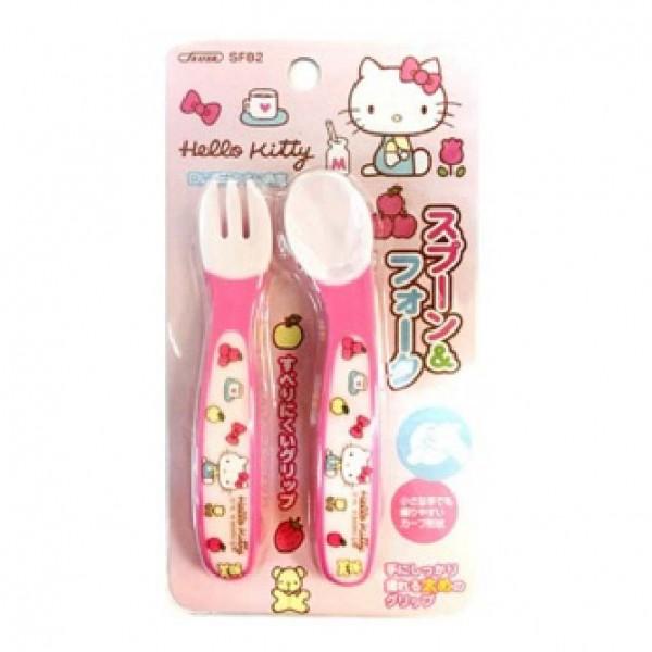 Skater Hello Kitty嬰兒餵食套裝 (匙及义子) - 粉紅