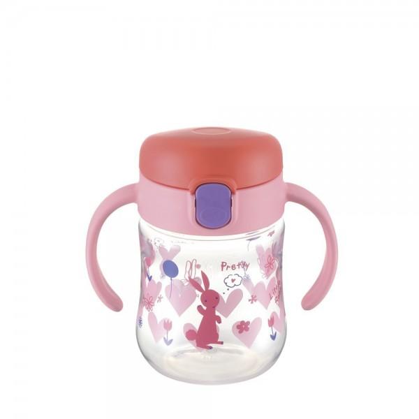 Richell 學習飲水杯 200ml (8mth+) -粉紅小兔