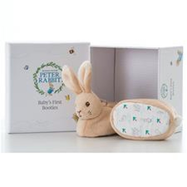Peter & Rabbit 嬰兒毛毛靴連禮物盒