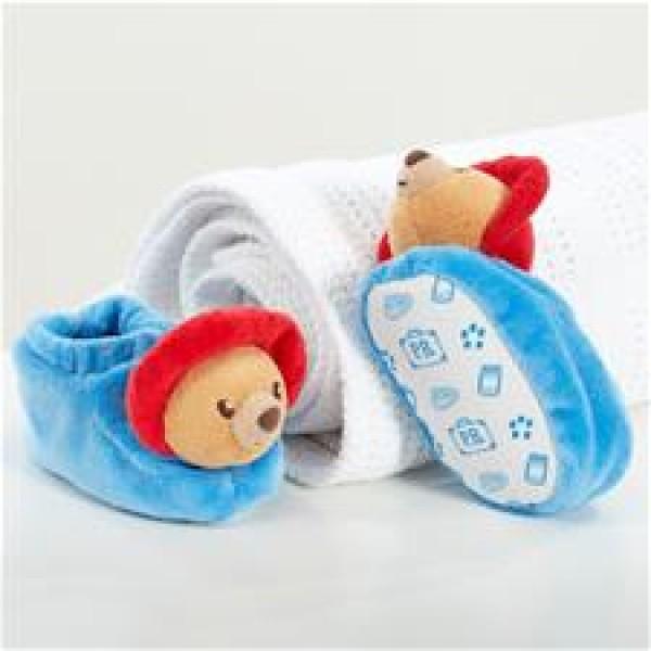 Paddington 嬰兒毛毛靴連禮物盒