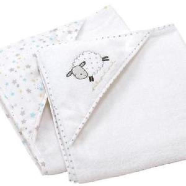 Silvercloud 小棉羊嬰兒包巾 (75x75cm) 2件裝