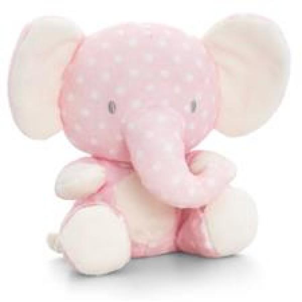 Keel Toys 粉紅小象毛公仔