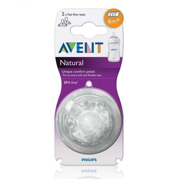 Philips Avent Natural 替換奶咀 – 快速 6個月+ (2個裝)