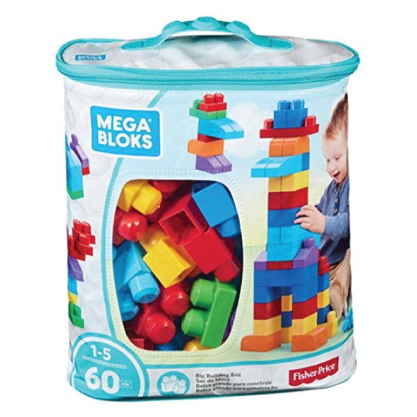 Mega Bloks 積木玩具 (藍) 60塊