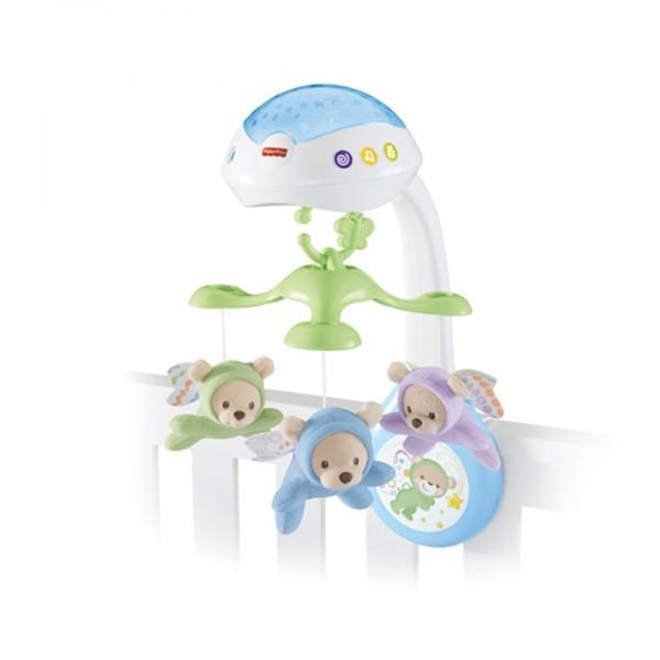 Fisher Price 3合1嬰兒床投射玩具
