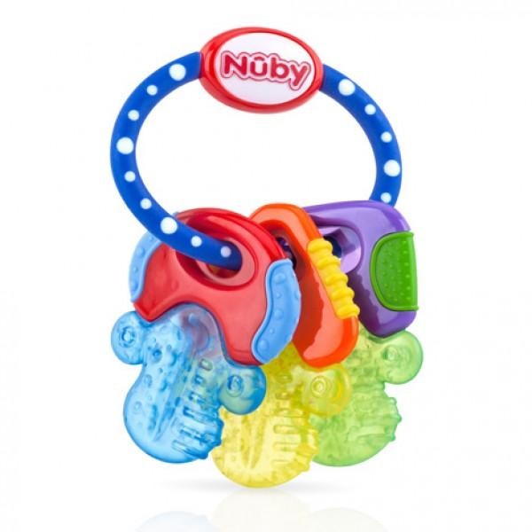 Nuby Icy Bites 鎖匙牙膠 - 藍