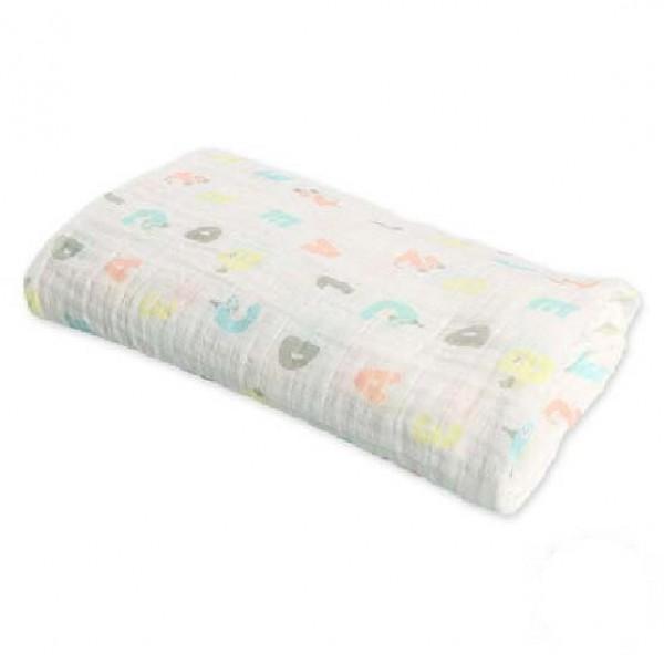 嬰兒紗巾被 100 x100cm – 數字圖案