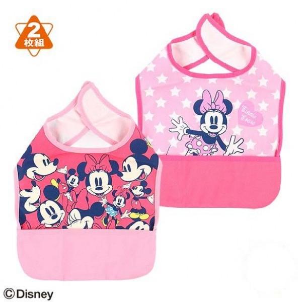 Disney Baby Minnie 嬰兒口水肩 (附口袋) 兩枚組