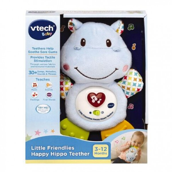 VTech 快樂小河馬牙膠音樂玩具 – 粉藍