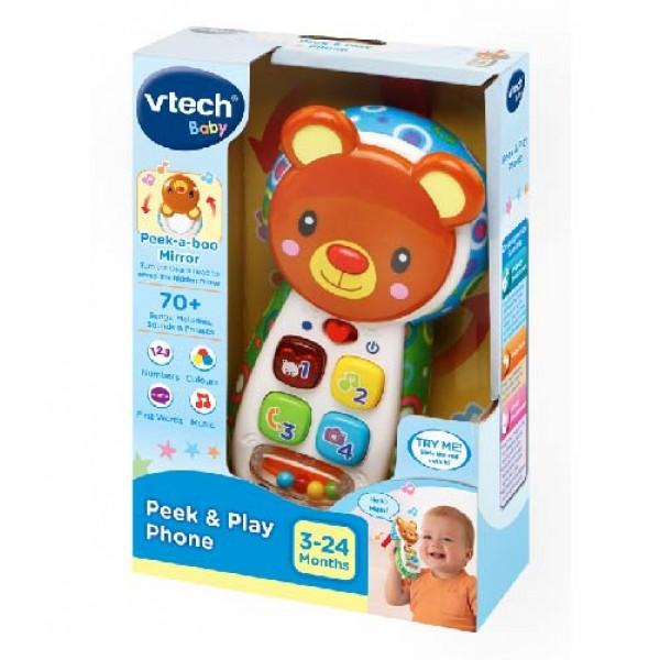VTech Peek & Play 電話玩具 (綠色) 3M+