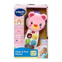 VTech Peek & Play 電話玩具 (粉紅) 3M+