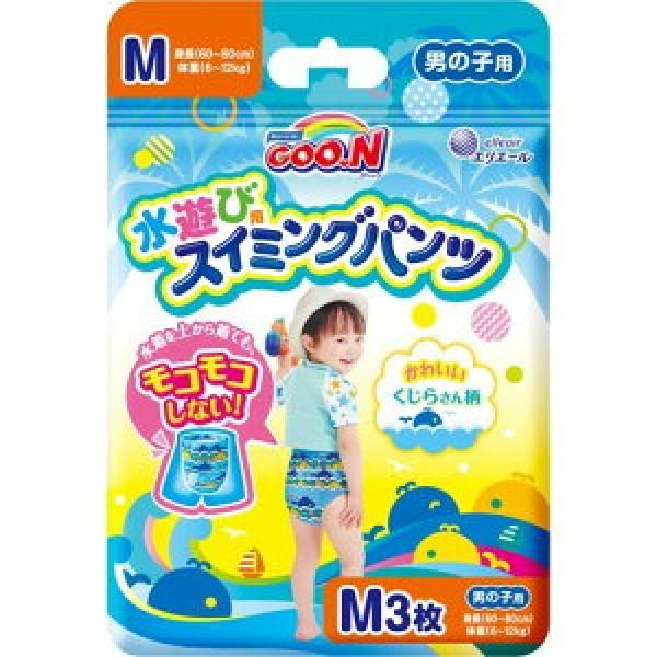 大王GOON 游水紙尿褲 男仔 中碼 (M) 3片(7~12kg)