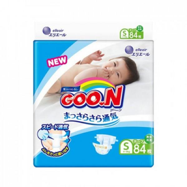 大王GOON 柔軟紙尿片 細碼 (S) 84片(4 ~ 8kg)
