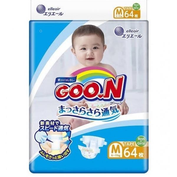 大王GOON 柔軟紙尿片 中碼 (M) 64片(6~11kg)