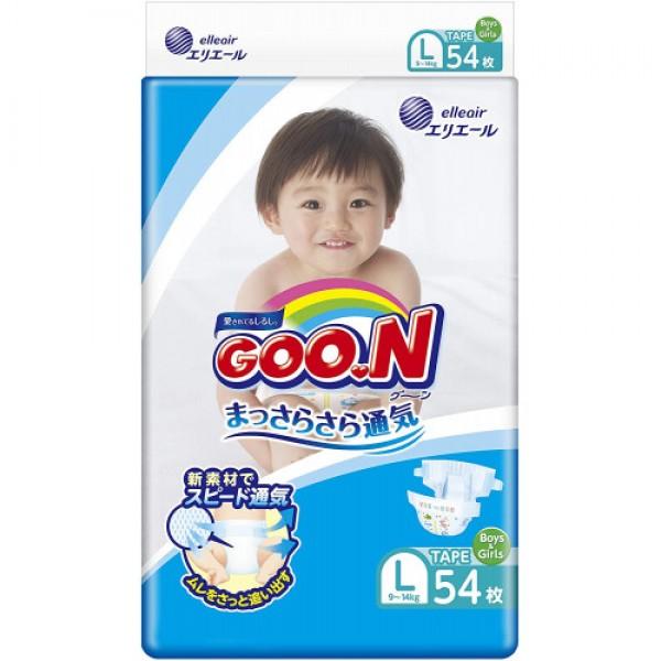 大王GOON 柔軟紙尿片 大碼 (L) 54片(9~14kg)