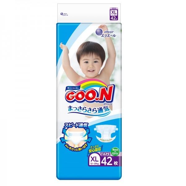 大王GOON 柔軟紙尿片 加大碼 (BIG) 42片(12~20kg)
