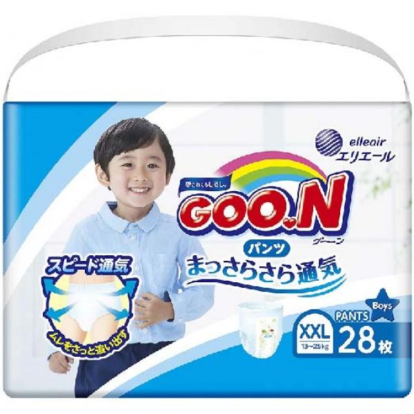 大王GOON 男裝活動學習褲  加加大碼 (XXL) 增量版 28片(13~25kg)