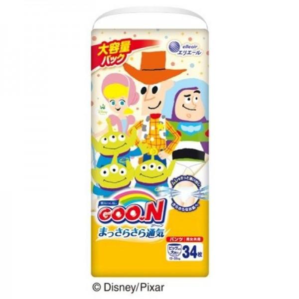 大王GOON x Disney 紙尿褲 加加大碼 (Super Big) 34片 (13~25kg)