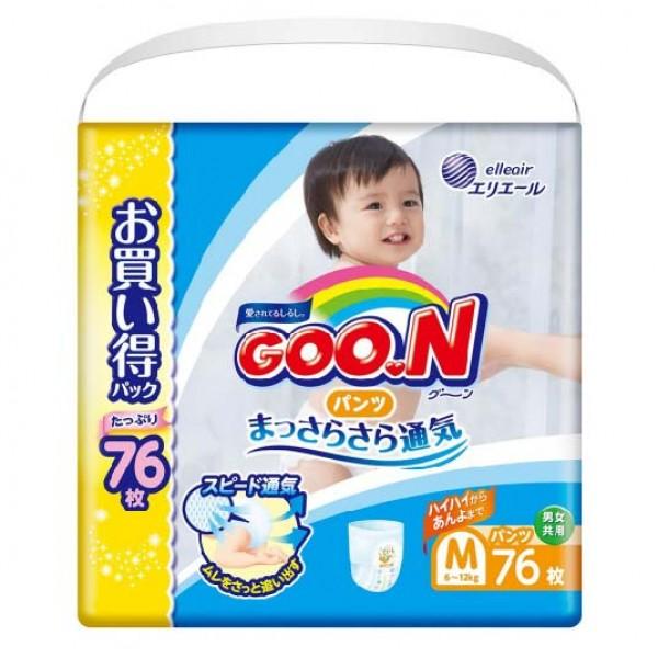 大王GOON 紙尿褲 中碼 (M) 76片 Jumbo (6~12kg)