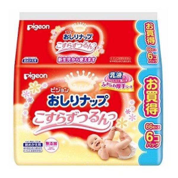Pigeon 嬰兒乳液配方濕紙巾 (64片X6包裝)