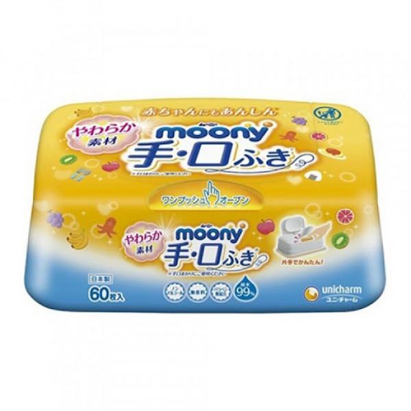 Moony 手口用濕紙巾盒裝 (60片)