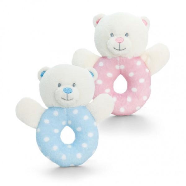 Keel Toys 小熊搖鈴玩具 (粉藍/粉紅)