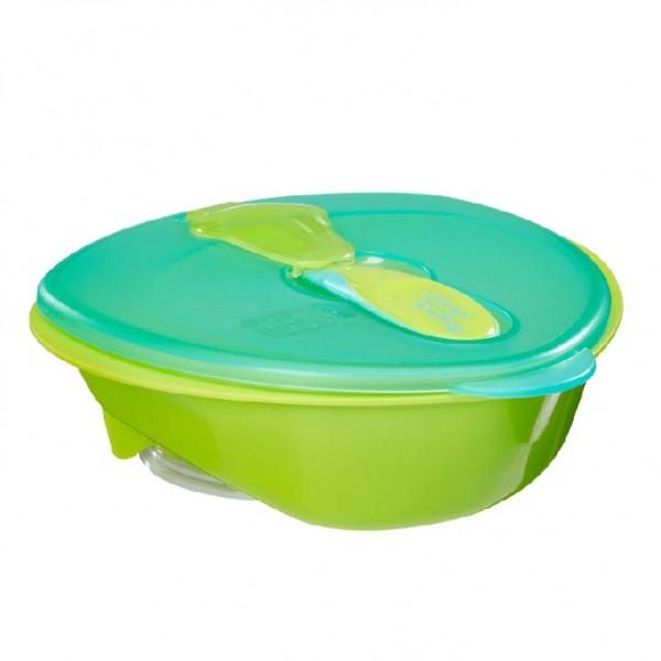 Vital Baby 吸盤碗 (附蓋及小匙) – 綠 (6 mths+)