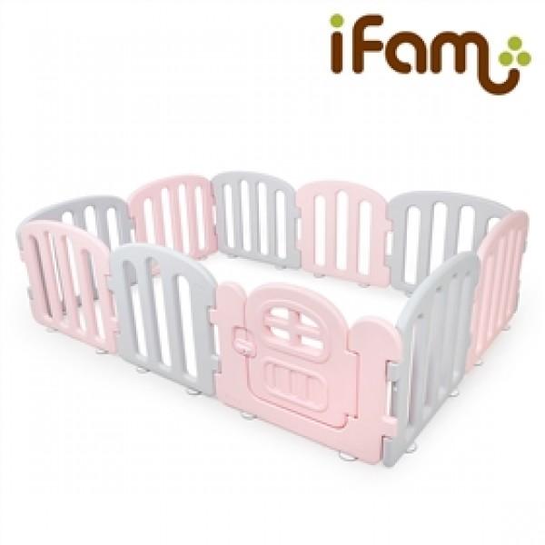 韓國 IFam  First Baby 簡約風遊戲圍欄 - 粉紅灰 [供應商直接送貨]