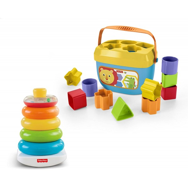 Fisher Price 寶寶積木盒 & 彩虹套圈套裝