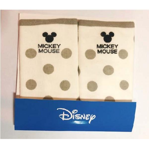 Disney Baby 米奇咬咬巾 (1對) – 灰圓波點