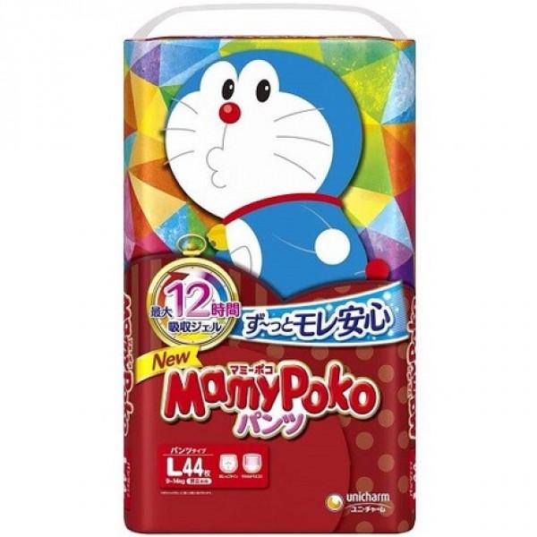 Mamy Poko 紙尿褲 大碼 (L) 44片(9~14kg)  [多啦A夢版] ❤優惠價$480/5包(可混碼)❤