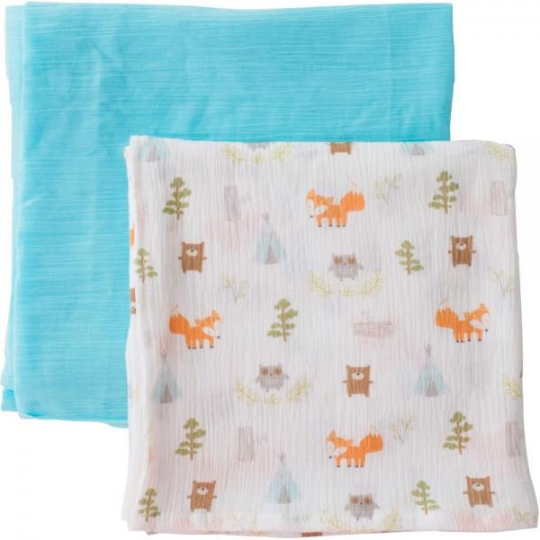 Summer Infant 嬰兒紗巾 (2件裝) - Camping Friends